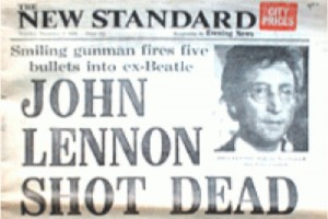 JOHN LENNON SHOT