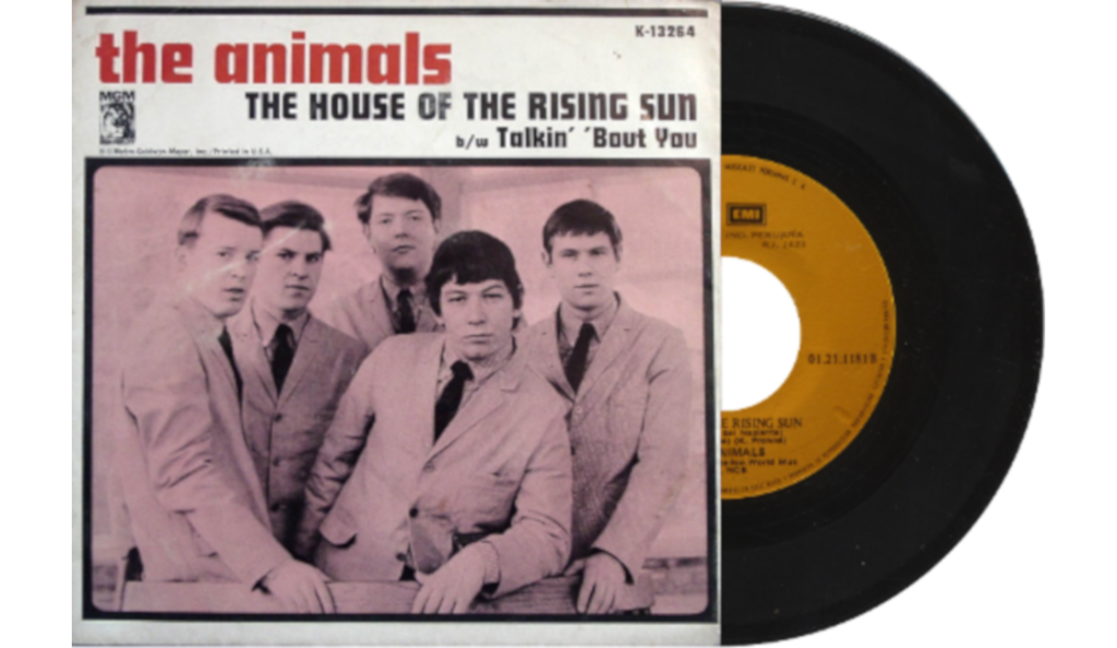 """The Animals – """"The House of the Rising Sun""""<br>08. Kolovoza – 1964."""