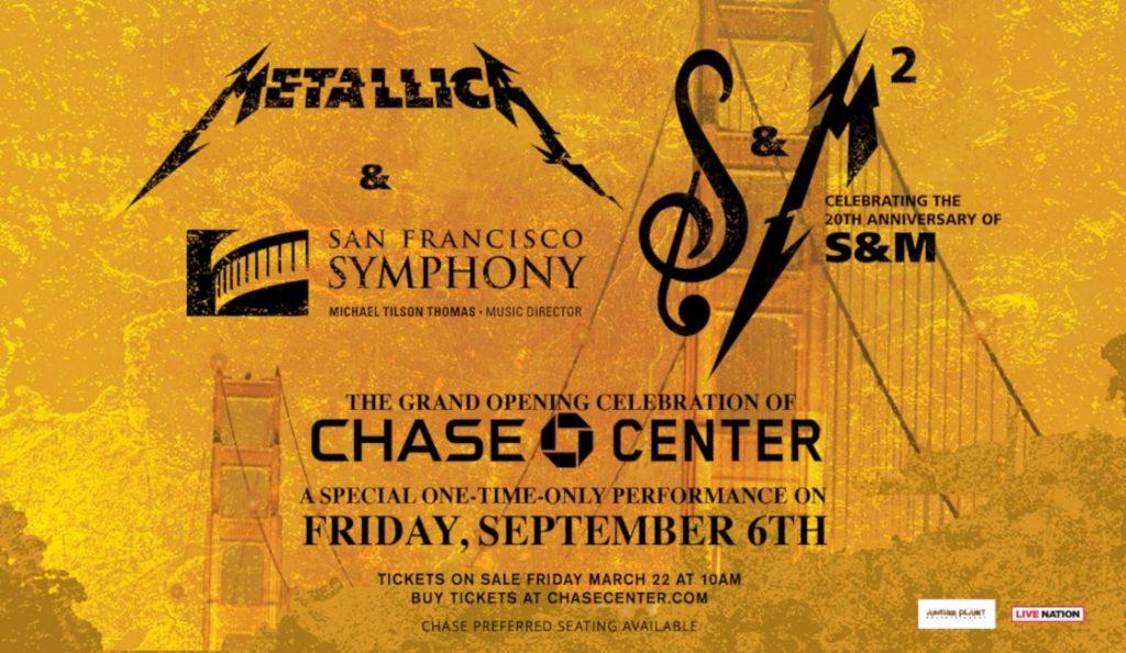 Metallica & San Francisco Symphony: S&M2 / film!<br>Listopad – 2019.