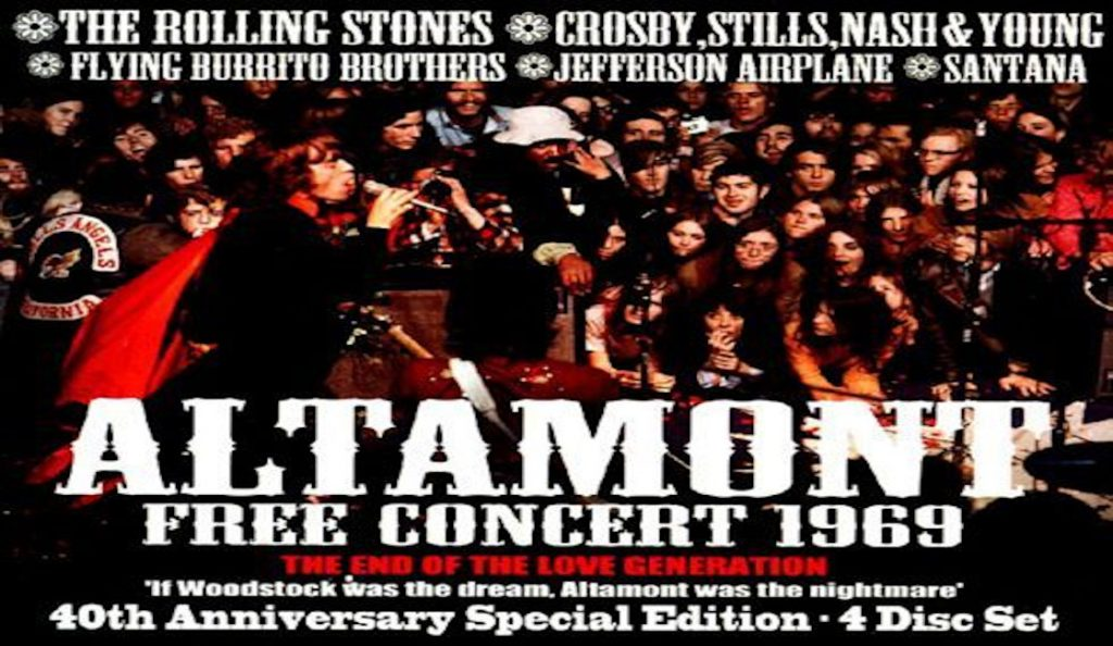"""Altamont Speedway Free Festival""<br>Prosinac – 1969."
