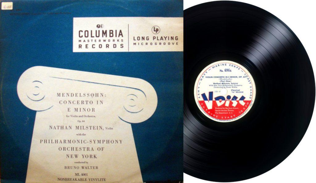 """""""Violin Concerto in E Minor"""" / Vinil LP – premijera!<br>Lipanj – 1948."""