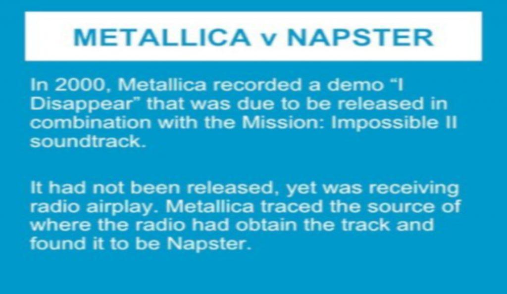 Metallica & Napster<br>Travanj – 2000.