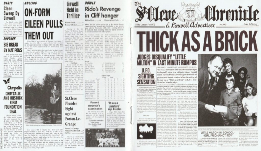 """Jethro Tull – """"Thick as a Brick""""<br>Ožujak – 1972."""