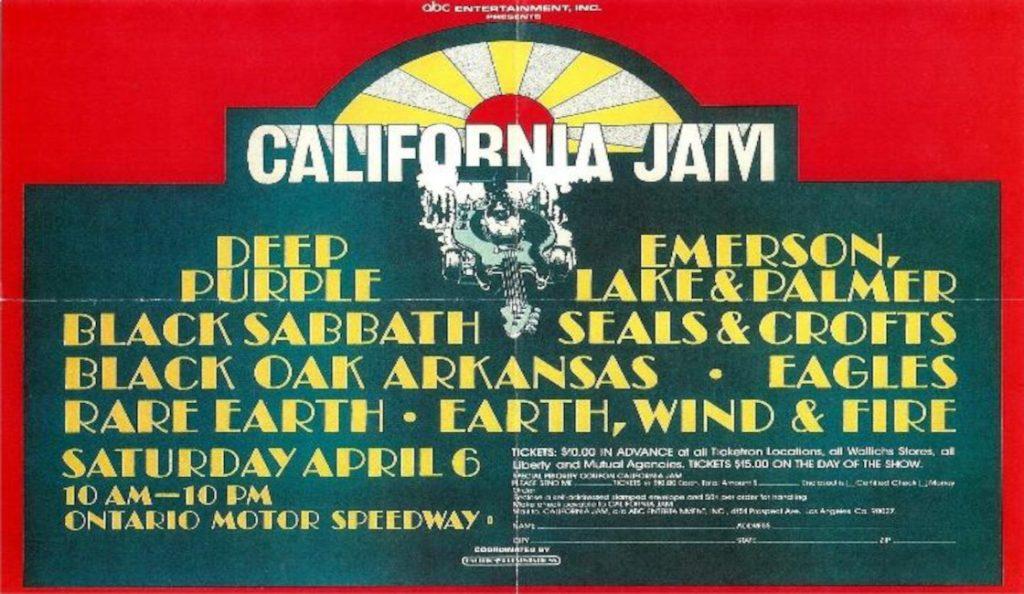 California Jam 1974.<br>Travanj – 1974.