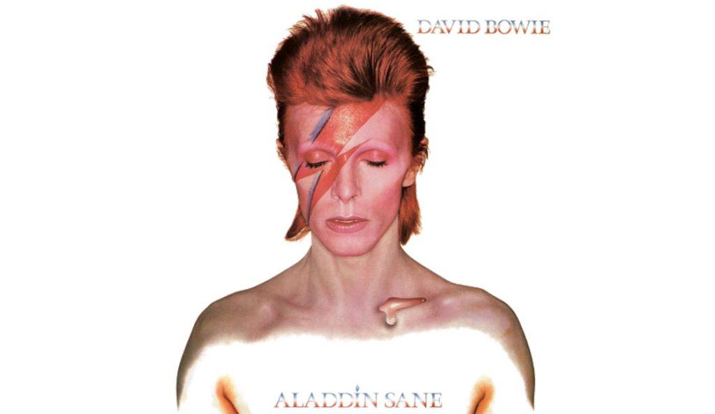 "David Bowie – ""Aladdin Sane""<br>Travanj – 1973."