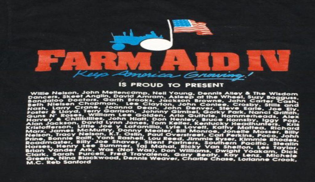 """""""Farm Aid IV""""<br>Travanj – 1990."""