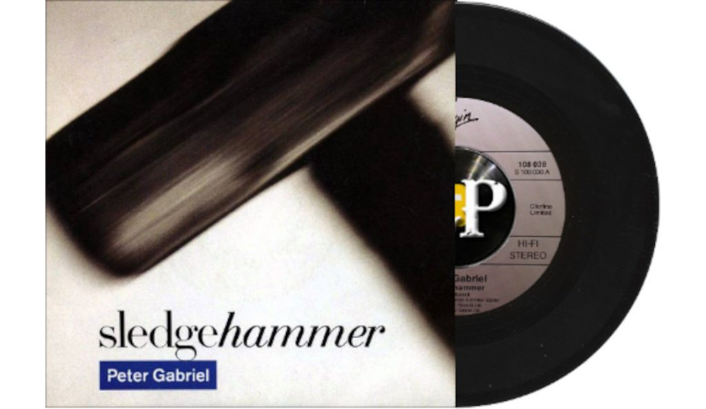 "Peter Gabriel – ""Sledgehammer""<br>Travanj – 1986."