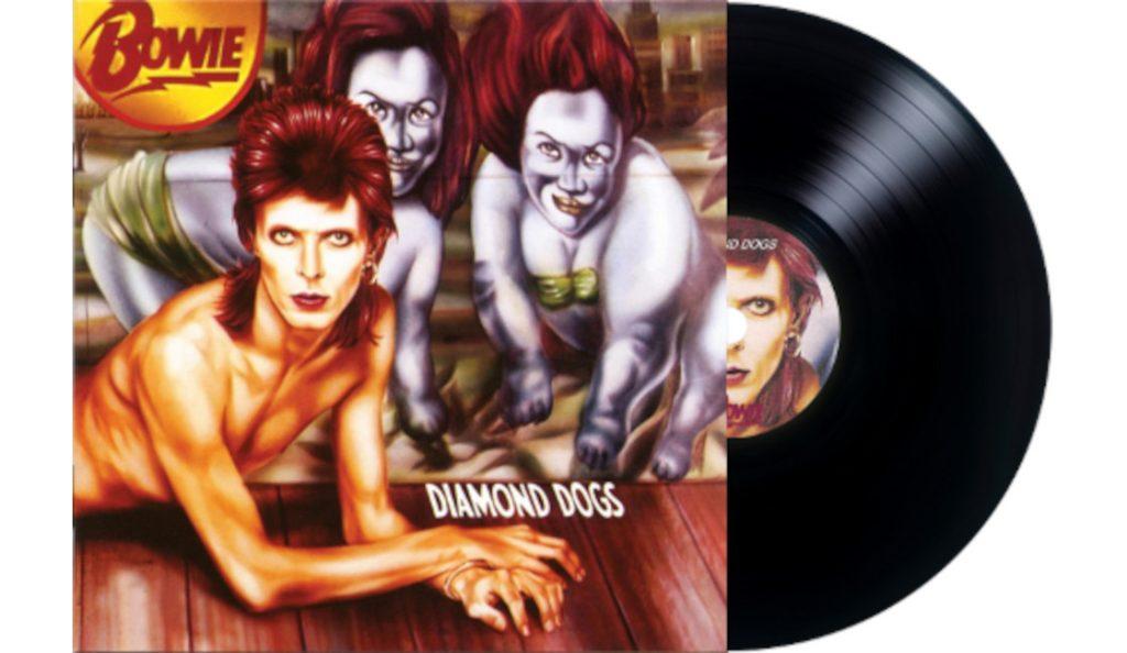 "David Bowie – ""Diamond Dogs""<br>Travanj – 1974."