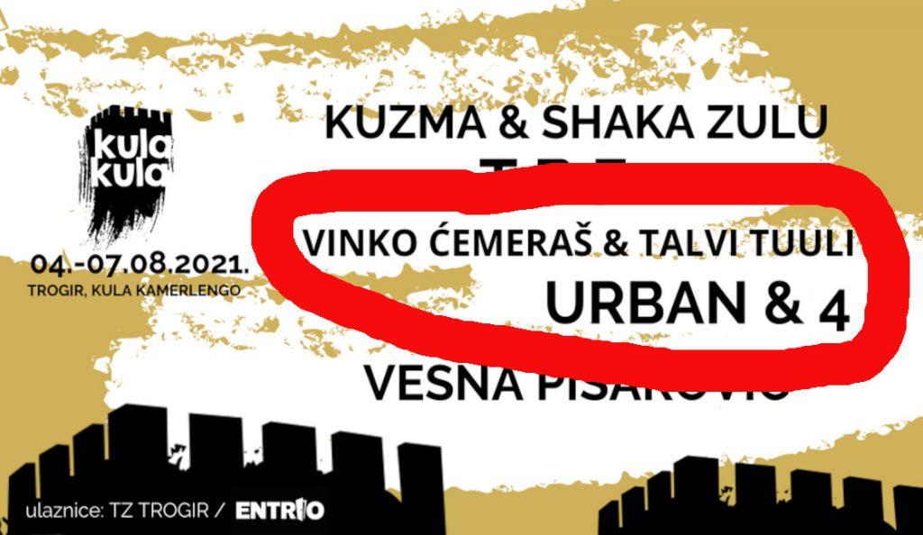 Urban &4  i Vinko Čemeraš – Trogir, kula Kamerlengo<br>06. Kolovoza – 2021.