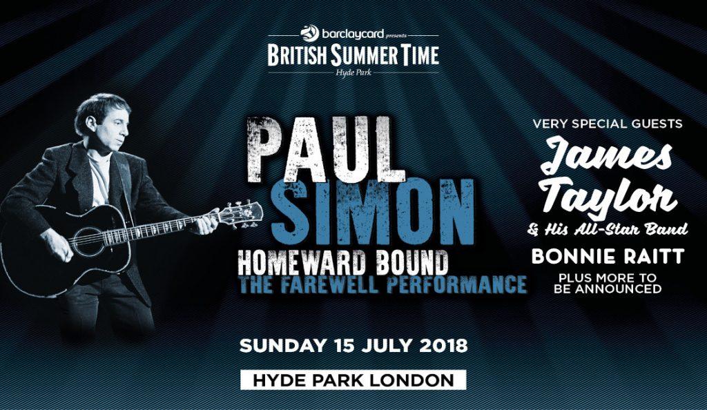 "Paul Simon – ""Farewell Performance""<br>15. Srpnja – 2018."