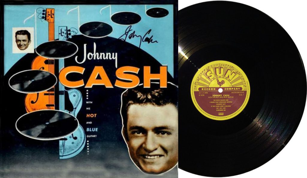 """Johnny Cash – """"Johnny Cash with His Hot and Blue Guitar""""<br>11. Listopada – 1957."""